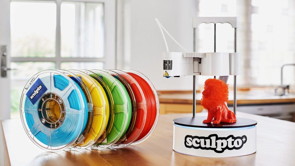 Sculpto 3D printer and filament