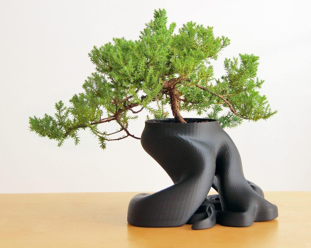 3D printed bonsai pot
